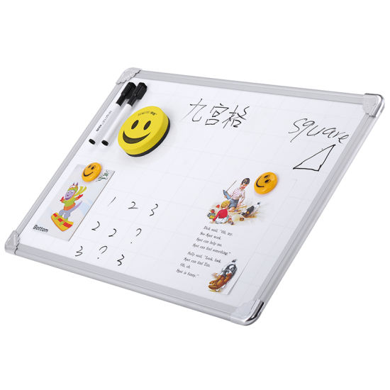 40*60cm Single Sided Smart Board Magnetic Writing Whiteboard with Grid