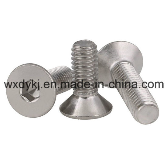 Stainless Steel 304 A2-70 Countersunk Head Hexagon Socket Cap Screw