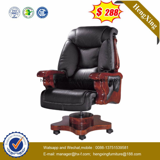 Wooden High Back Leather Executive Boss Office Chair (HX CR004)