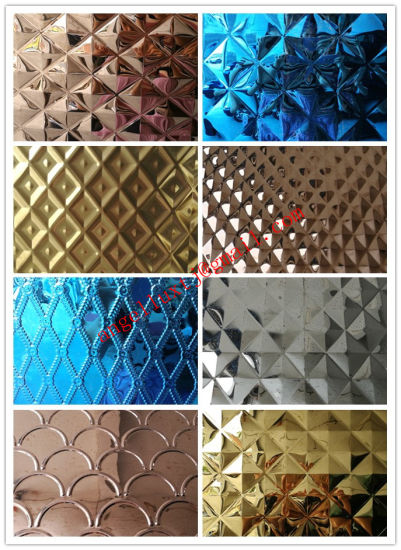 China Color Embossed Stainless Steel Sheet PVD Coated - China Color ...