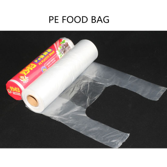 Hdpe Ldpe Pe Plastic Disposable Food Produce Bags On Roll