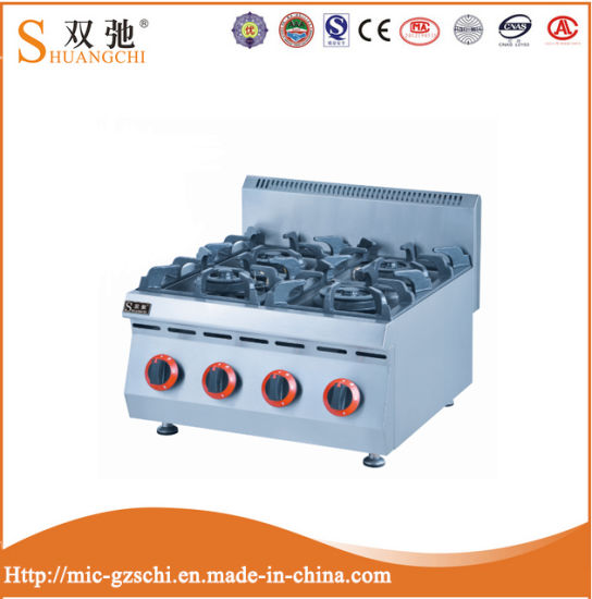 Sc-4. R Commercial 4 Burners Gas Stove with Stainless Steel pictures & photos