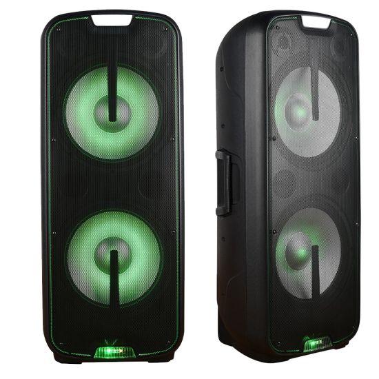 Dual 15inch Karaoke Bluetooth Speaker with LED Light