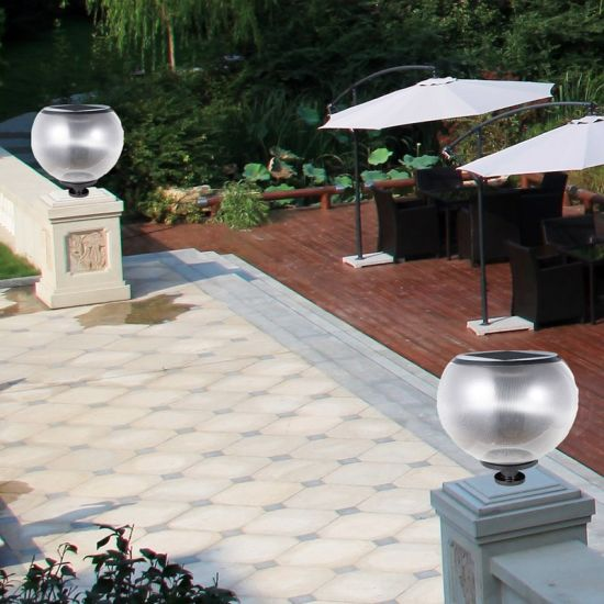 Ball Shape Solar Outdoor Lighting Garden Lawn Light LED Pillar Lighting