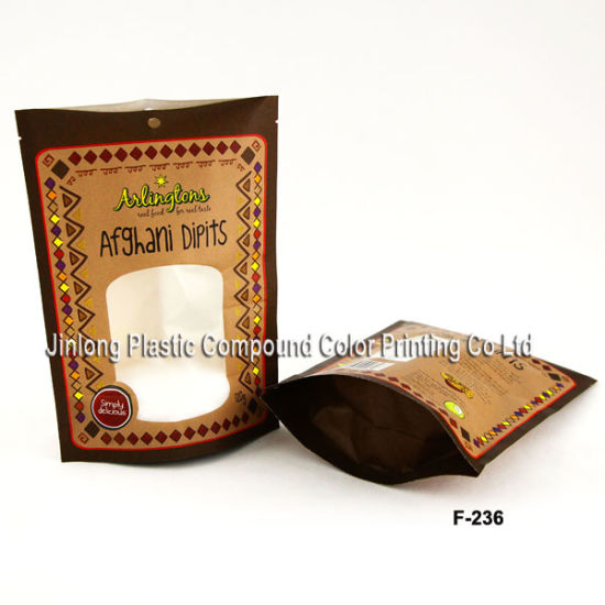 Stand up Kraft Paper Pouch with High Barrier