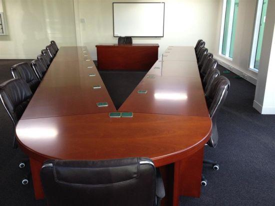 China Wood Veneer MDF Walnut Antique V Shaped Conference Table - V shaped conference room table