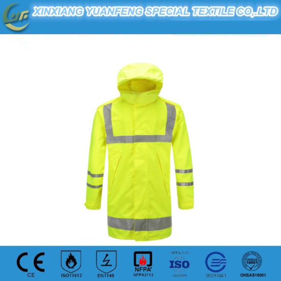 Hi-Vis Fluorescent Color Anti-Static and Waterproof Safety Winter Unisex Jacket Wear for Work and Walking pictures & photos