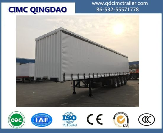 Cimc Customized 4 Axles 40FT Curtain Side Van Semi Truck Trailer pictures & photos