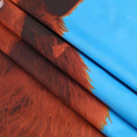 Bigger Pattern Flat Screen Printing Bedding Sheet for 100% Polyester Fabric