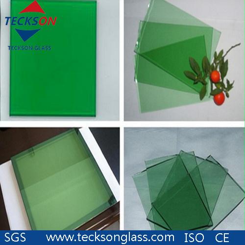 6mm Dark Green Tinted Float Glass for Building Door Windows