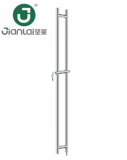 Stainless Steel Double Sided Long Door Pull Handle With Lock