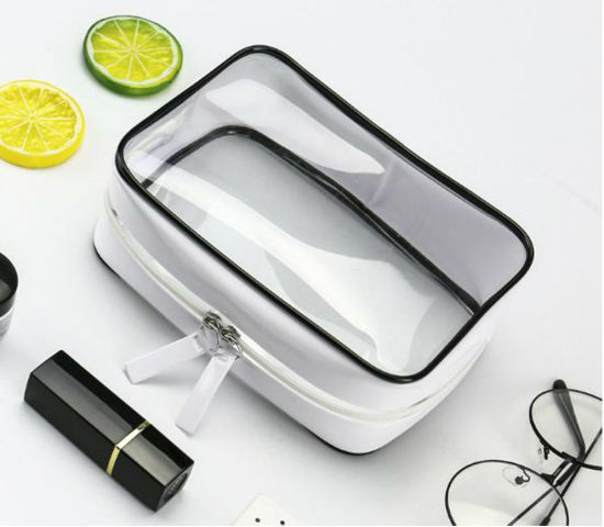 Luxury Clear Zipper Toiletry/Toilet Makeup Brush Waterproof Zip Lock PVC Travel Cosmetic Bag