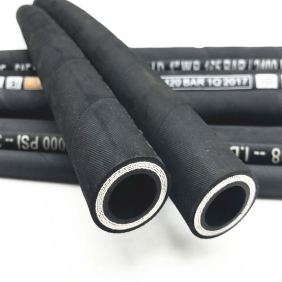1/2 4sp Anti Aging Heavy Machinery Synthetic Hydraulic Rubber Hose
