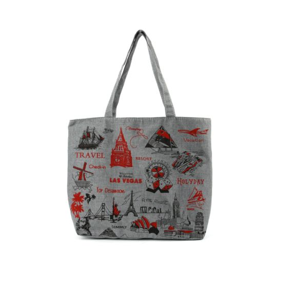 Custom Designed Canvas Laminated Promotional Shopping Tote Bag