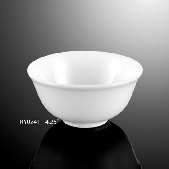 White Round Porcelain Rice Bowl for Hotel and Restaurant pictures & photos