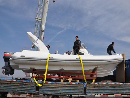Liya 8.3m Fiberlgass Rigid Inflatable Fishing Boat Rescue Rib Boat