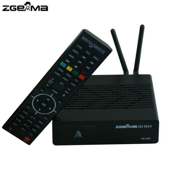 China 4K UHD IPTV Box Zgemma I55 Plus with 300Mbps WiFi