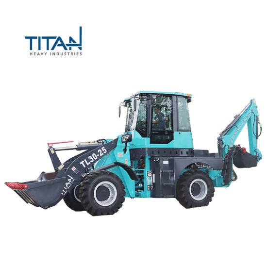 Titan Brand New High Quality 2.5ton Compact Cheap Mini Axle Parts Articulated Hot Sale Backhoe Loader with Grapple