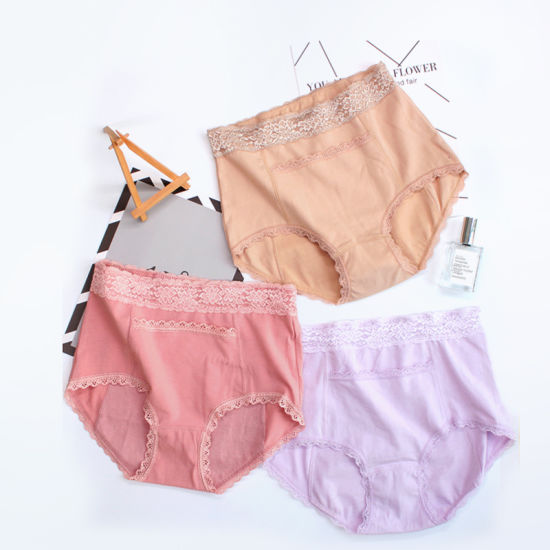 4288bb9f34c9 Leakproof and Breathable Indentation High-Waisted Modal Physiological  Underwear