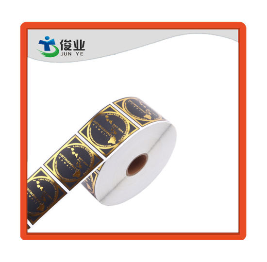 High Quality Gold Hot Stamping Sticker/Customized Printing Label