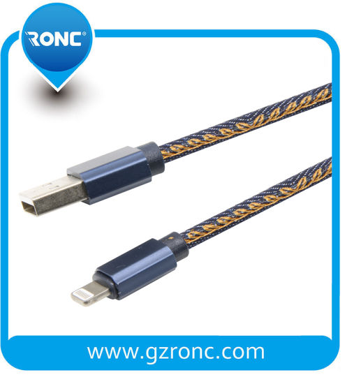 Durable Jean Material  Lightning USB Data Cable for iPhone