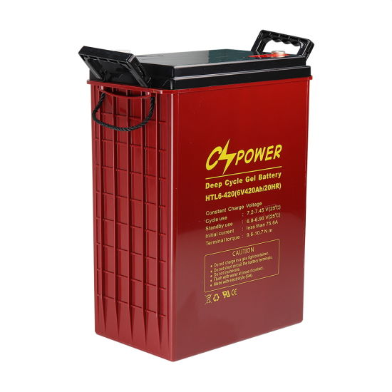 Cspower 6V420ah High Temperature Deep Cycle Solar Gel Battery/Energy Storage Battery for Solar System/Golf Cart/Sweeper/Pump