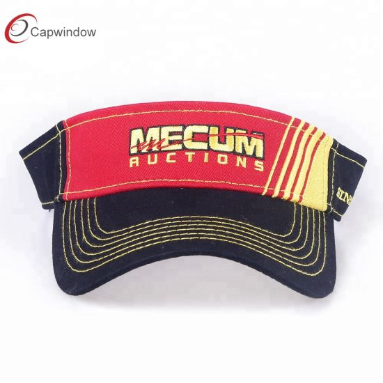 5974716545b Red and Black Cotton Comfortable Breathable Fashion Leisure Sport Sun Visor