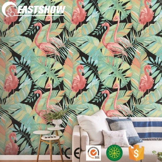 China High Quality Cheap 3d Vinyl Flamingo Wallpaper For Wall Decoration China Wallpaper Wallcovering