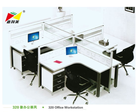 Popular Wooden Desk Aluminum Office Partition System From Jialimei