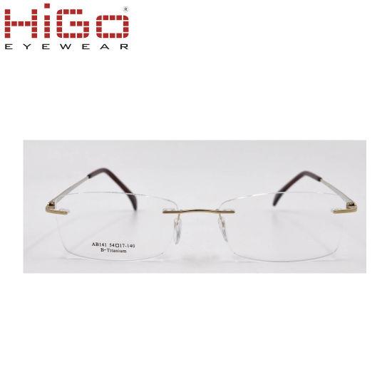Japan Beta Flexible Rimless Pure Titanium Optical Frame for Men