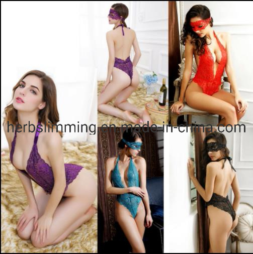 Sleepwear Lace Women′s G-String Underwear Dress Babydoll Nightwear Sexy Lingerie pictures & photos