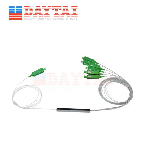 Mini Type 0.9mm Fiber Optic 1X6 PLC Splitter with Sc/APC Connector