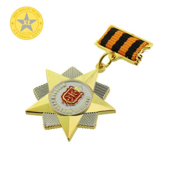 Hard Enamel China Professional Manufacturer Metal Medal Badges