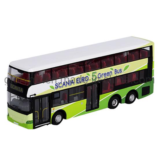 Custom Simulation Double Wall Bus Miniature Model