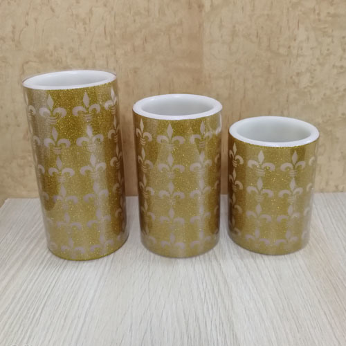 Decorative Golden LED Candles Light with Special Artwork in Yellow Light Also Can with Your Logo