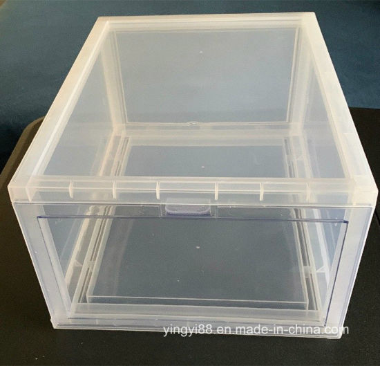 Luxury Clear Acrylic Drop Front Shoe Box Yyb-056