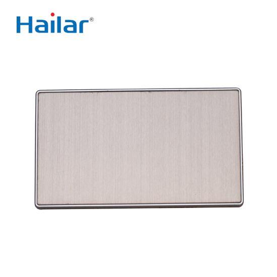 Hailar Brushed Chrome 2 Gang Blank Wall Plate