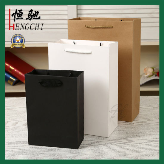Luxury Cosmetic High Quality Hand Printing Paper Shopping Packaging Bag for Gift and Promotional