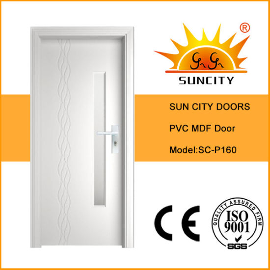 Interior MDF Room Wood Designs PVC Bathroom Toilet Door