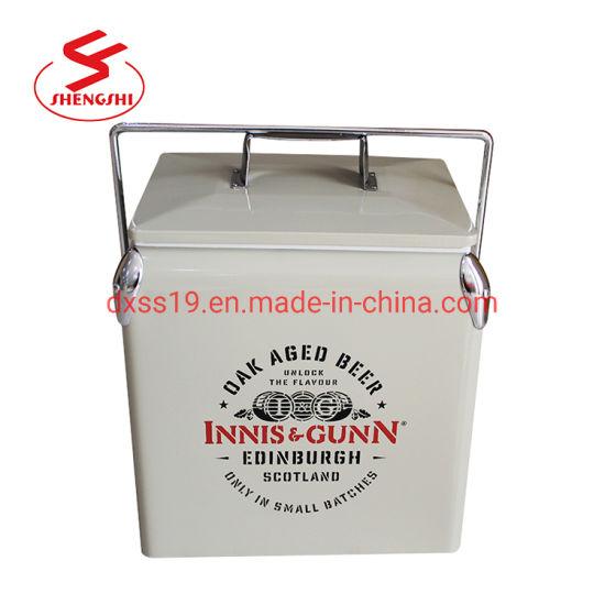 8b3300342466 China 13L Metal Ice Cooler Box for Beer Picnic Camping - China ...