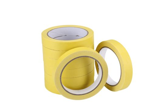 China Wholesale Economical Car Painting Masking Tape with High Temperature Resistance White/Yellow Color