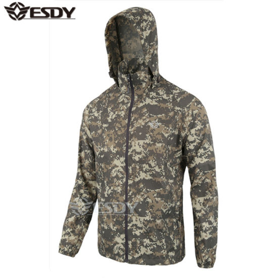 45b35e0fd54c4 7 Colors Tactical Men Waterproof Camping Thin Sports Jackets Camouflage  pictures & photos