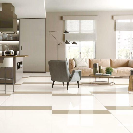 China 600x600 Double Loading Unglazed Polished Porcelain Floor