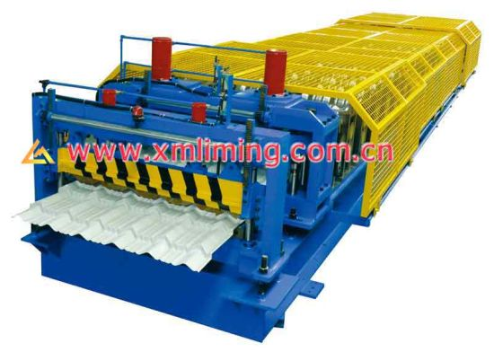 Colored Cold Steel Glazed Roof Tile Making Machine /Glazed Roof Tile Machine/Step Tile Roofing Sheet Roll Forming Machine