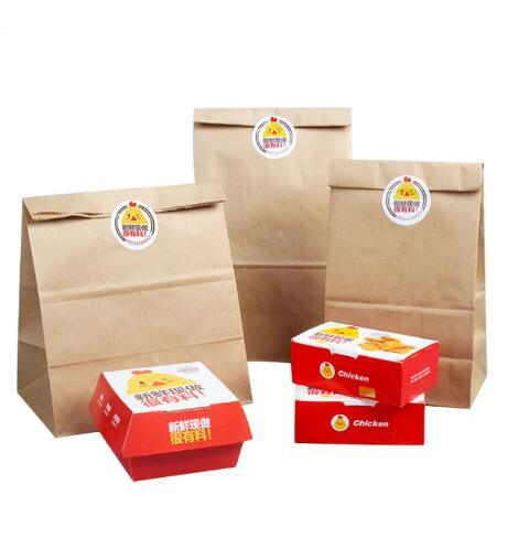 Custum Printed Sandwich Takeaway Plastic Packaging Take Away Fast Food Paper Bag pictures & photos
