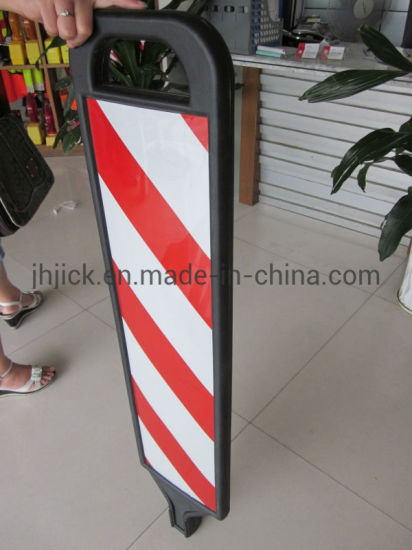 PE Board Rubber Base Red and Black Reflective Traffic Sign Board pictures & photos