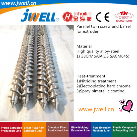 Jwell - Parallel Twin Screw and Barrel for Recycling Agricultural Making Extrusion Plastic Cup Machine pictures & photos