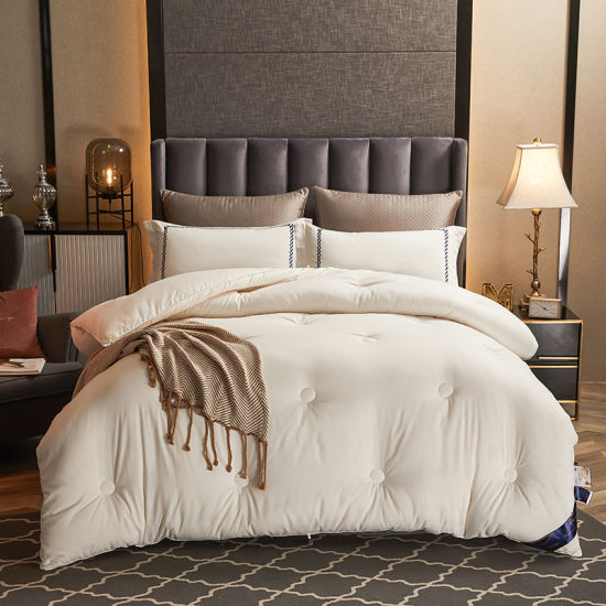 Luxury White 133X72 Fabric Density Customized 100 Cotton Embroidery Duvet Cover Bedding Sets