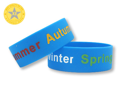 X-Eternal Gifts Custom Fashion Rubber Printed Embossed Debossed Silicone Bracelet Wristband with Logo pictures & photos