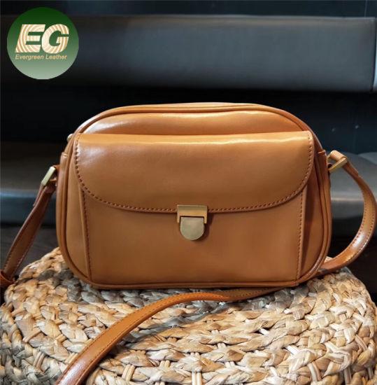 Vintage Fashion Leather Crossbody Bags Small Handbags for Lady Emg5538